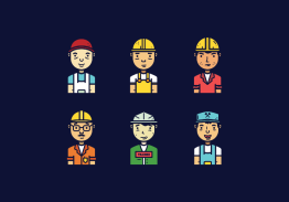 Illustration of different contractors.