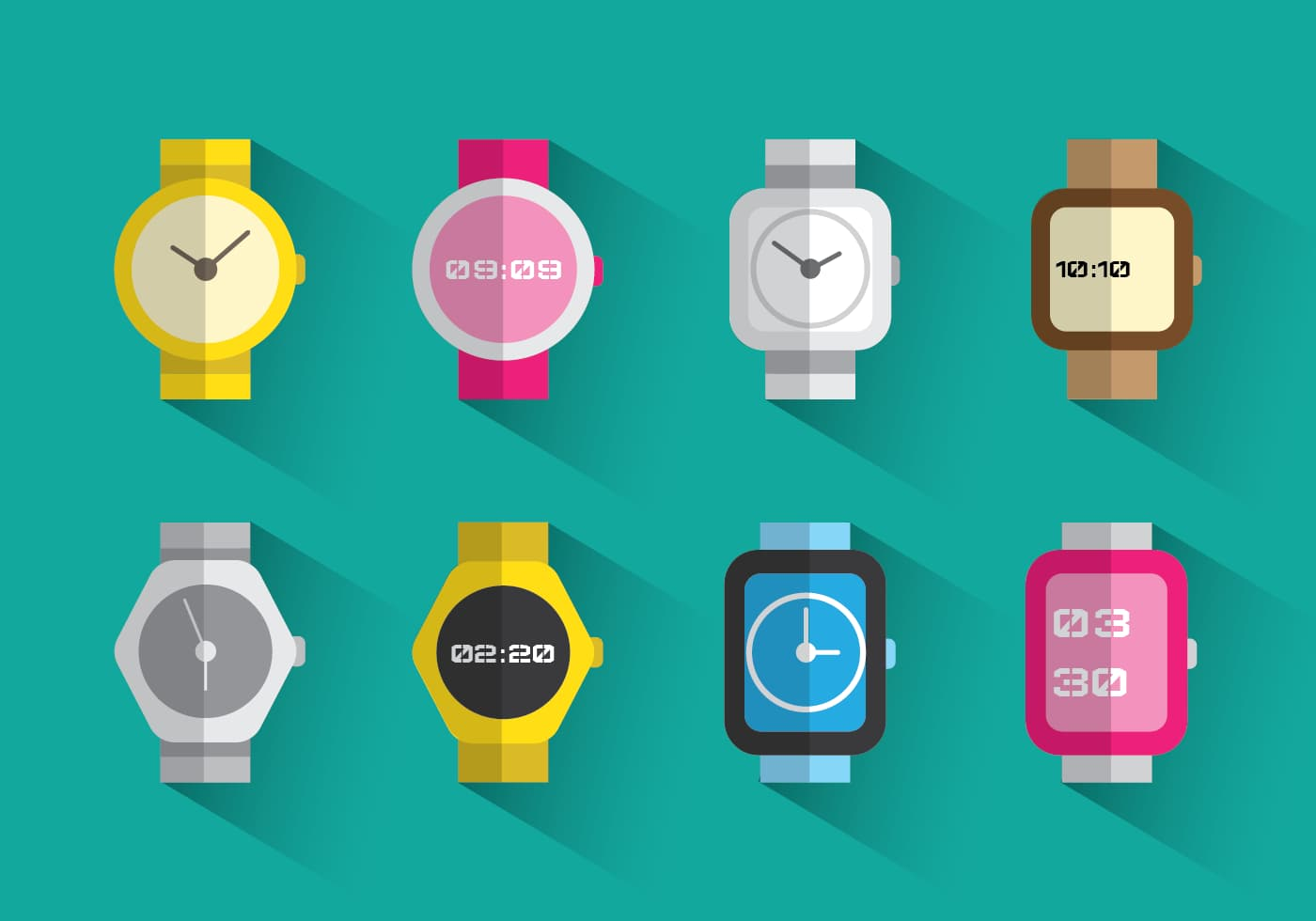 Illustration of watches.