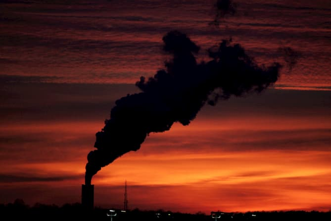 Stock photo of factory pollution.
