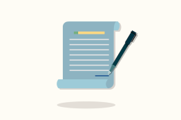 Illustration of a contract document.