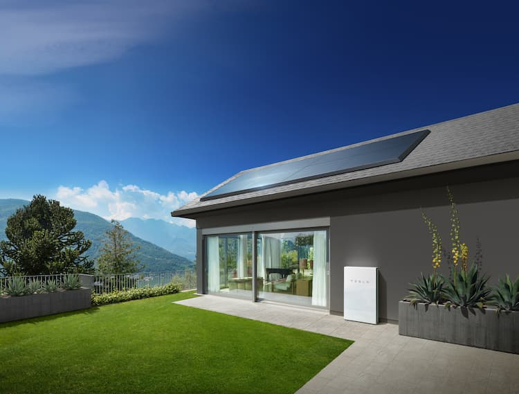 Photo of a solar home