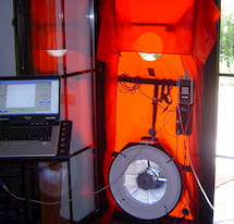 example of a blower door